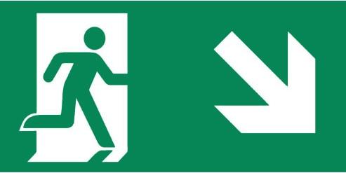 pictogrammen rechts schuin