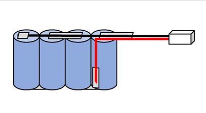 noodverlichtingaccu sbs4 metdraad connector